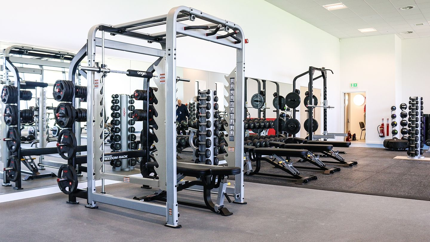 Newbattle Strength Training zone and weightlifting rack