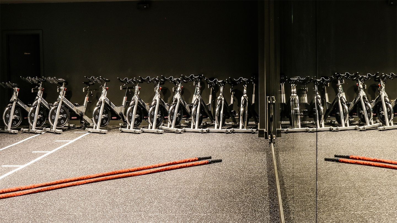 Principal Hotel charlotte Square Studio Spin bikes indoor cycles