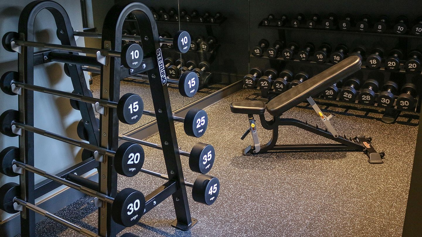 Principal Hotel Charlotte Square Strength zone free weights