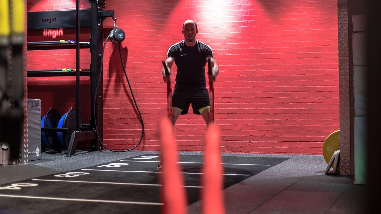 Rhyl Battle Rope Exercise