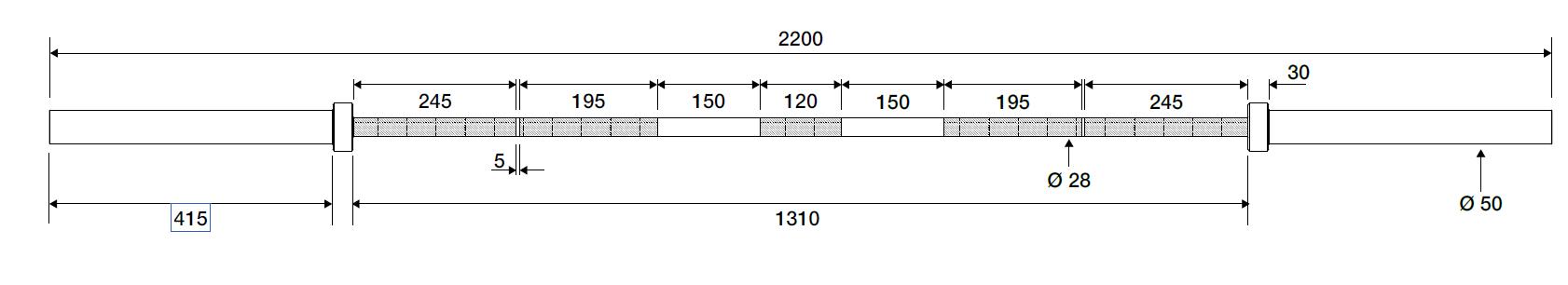 20kg Powerlifting Bar