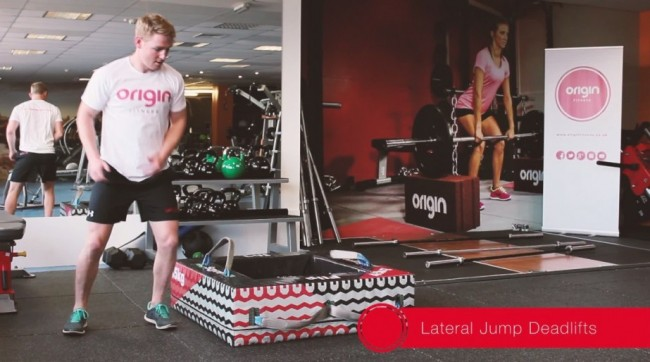 Sqyre Lateral Jump Deadlifts