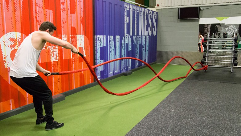 functional gym equipment battle ropes