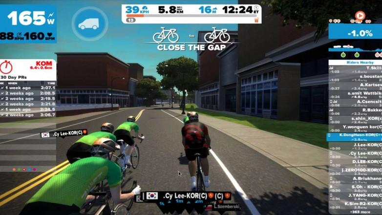 zwift app indoor cycle